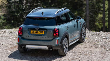 Facelifted 2020 MINI Countryman Cooper S - static rear 3/4