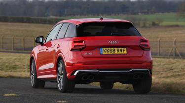Audi SQ2 SUV rear action