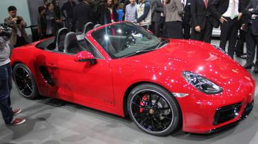 Porsche Boxster GTS front quarter static