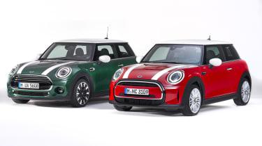 MINI hatchback - old (left) vs new (right)