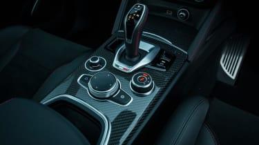 Alfa Romeo Stelvio Quadrifoglio SUV - gearstick and centre console