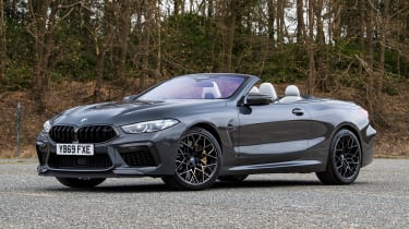 BMW M8 Convertible front 3/4 static