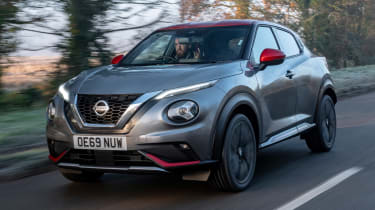 Nissan Juke SUV front 3/4 action