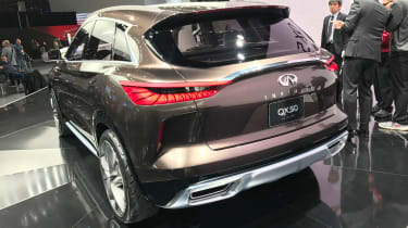 Inspired by design sketches released in 2016, the QX50 Concept is very distinctive