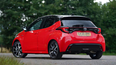 Toyota Yaris hatchback rear 3/4 static
