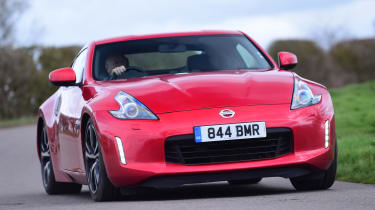Nissan 370Z coupe front cornering