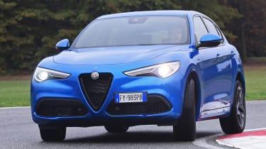 Alfa Romeo Stelvio SUV front cornering