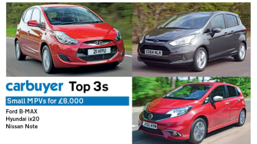 Top 3 small MPVs for £8,000 - header
