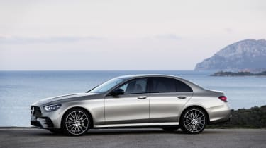 Mercedes E-Class - side on view static