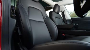 Tesla Model 3 saloon front seats