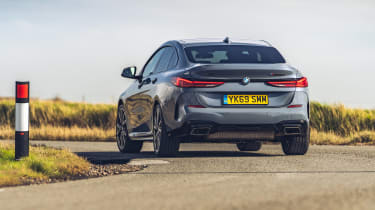 BMW M235i Gran Coupe saloon rear cornering