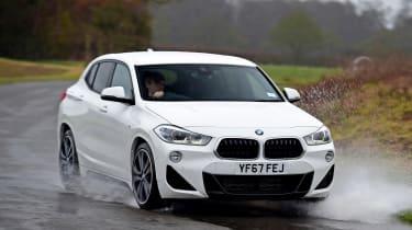 BMW X2 SUV front 3/4 cornering