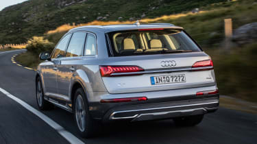 Audi Q7 SUV rear driving
