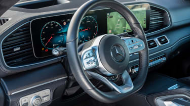 Mercedes GLE Coupe SUV steering wheel