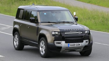 2021 Land Rover Defender 110 - V8 prototype - front 3/4 view