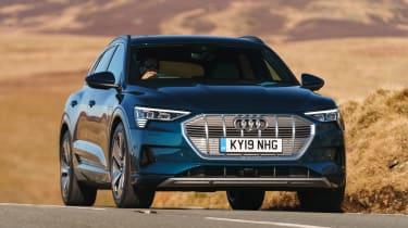 Audi e-tron SUV cornering