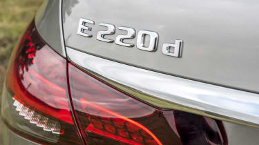 Mercedes E-Class saloon - rear boot badges