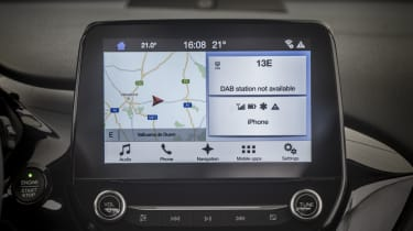 Titanium, ST-Line X models and above feature this 8-inch touchscreen SYNC 3 infotainment system