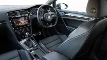 The interior is as well laid out and high quality as any other VW Golf