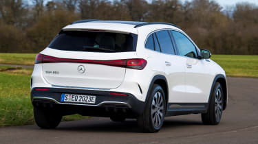Mercedes EQA SUV review rear cornering