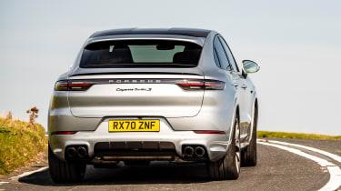 Porsche Cayenne Coupe SUV - rear view cornering