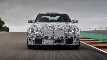 2020 BMW M3 saloon prototype - front on view