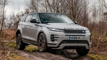 Range Rover Evoque SUV mud track