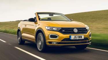 Volkswagen T-Roc Cabriolet driving on road