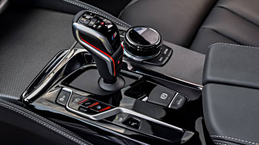 BMW M5 Competition - gearstick and centre console controls
