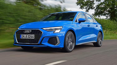 Audi A3 saloon front 3/4 tracking