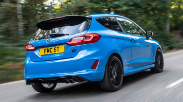 Ford Fiesta ST hatchback rear 3/4 tracking