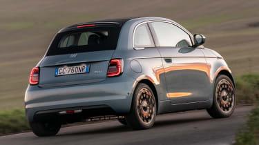 Fiat 500 hatchback rear 3/4 cornering