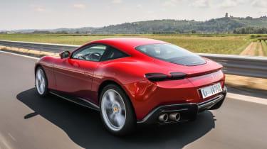 Ferrari Roma coupe rear 3/4 tracking