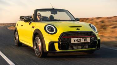 2021 MINI Convertible driving on road