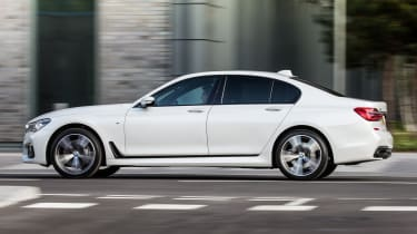 The 20-inch alloy wheels included with some trim levels make the 7 Series a little too firm over bumps