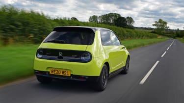 Honda e hatchback rear tracking