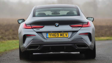 BMW 8 Series Gran Coupe saloon rear driving