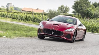 Maserati GranTurismo coupe front 3/4 cornering