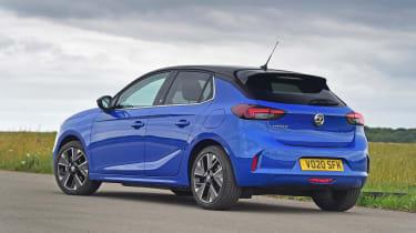 Vauxhall Corsa-e hatchback rear 3/4 static