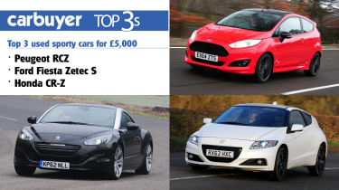 Top 3 used sporty cars for £5,000 header