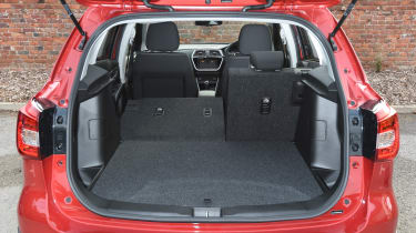 The S-Cross offers just 875 litres of load space when the rear seats are folded down
