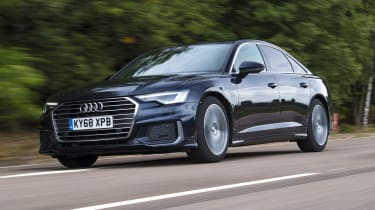 Audi A6 saloon - front 3/4 view