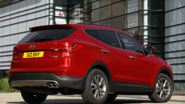 The Santa Fe costs £140 a year in road tax, unless its list price is over £40,000, when a £310 surcharge is added