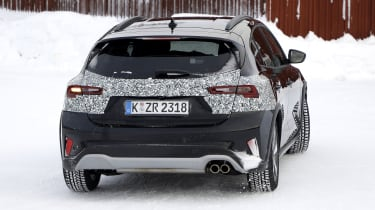 2021 Ford Focus in camouflage - rear