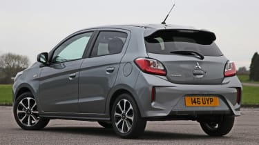 2020 Mitsubishi Mirage Design - rear 3/4 view