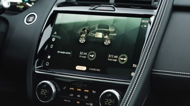 Jaguar E-Pace SUV review infotainment display