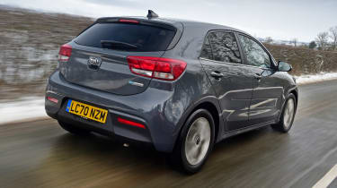 Kia Rio hatchback rear 3/4 tracking