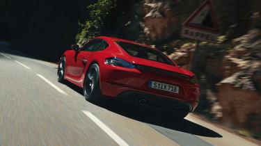 Porsche 718 Cayman GTS - rear 3/4 view