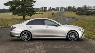 Mercedes E-Class saloon - side on static