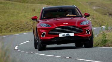 Aston Martin DBX SUV front cornering